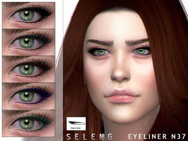 Sims 4 Eyeliner N37 by Seleng at TSR