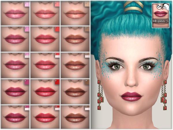 Sims 4 Lipstick N03 by BAkalia at TSR