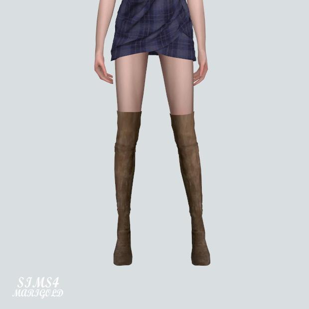 Sims 4 Thigh High Boots at Marigold