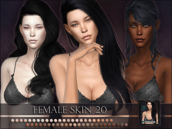 Sims 4 Female skintone 20 by RemusSirion at TSR
