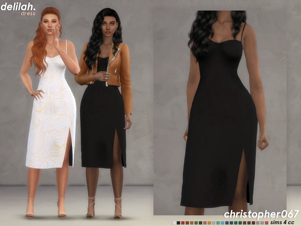 Delilah dress by Christopher067 at TSR image 7612 Sims 4 Updates