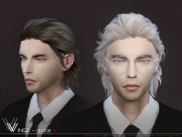 Sims 4 WINGS ON1208 hair by wingssims at TSR