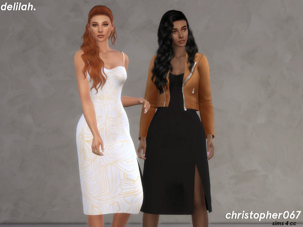 Delilah dress by Christopher067 at TSR image 7713 Sims 4 Updates
