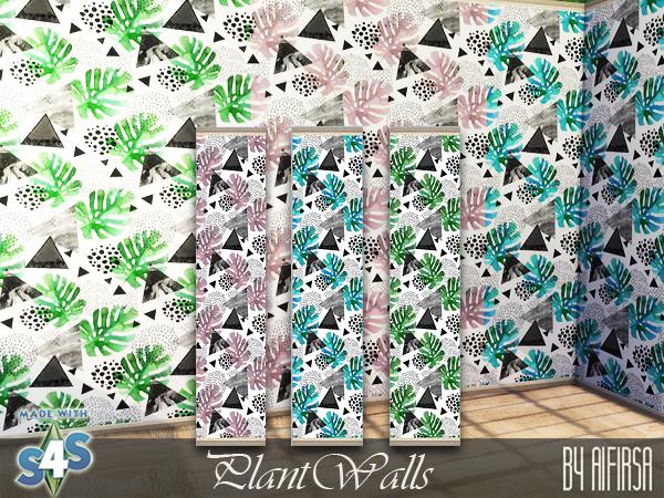 Sims 4 Plant walls at Aifirsa