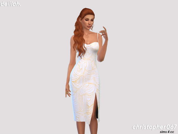 Delilah dress by Christopher067 at TSR image 7813 Sims 4 Updates