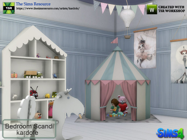 Sims 4 Bedroom Scandi by kardofe at TSR