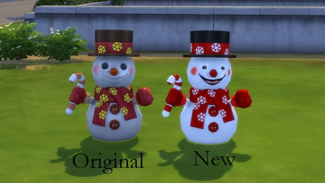 Sims 4 Happy snowman by hippy70 at Mod The Sims