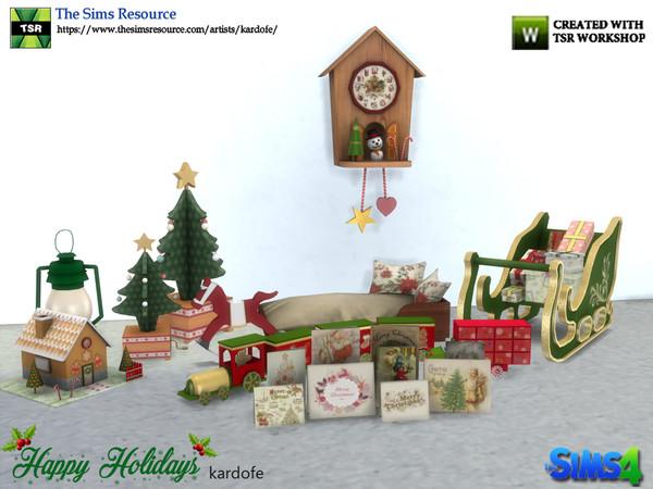 Sims 4 Happy Holidays set part 2 by kardofe at TSR