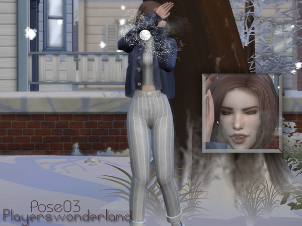 Sims 4 Snowball Posepack by PlayersWonderland at TSR