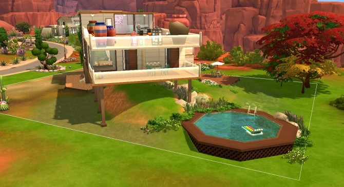 Sims 4 Desert Hall house NO CC by valbreizh at Mod The Sims