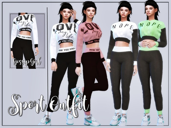 Sims 4 Sport Outfit by GossipGirl at TSR