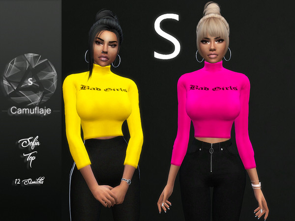 Sofia top by Camuflaje at TSR image 869 Sims 4 Updates