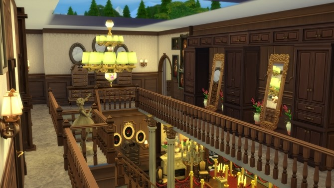 Sims 4 Haunt Hall No CC by Evalation at Mod The Sims