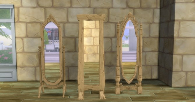 Sims 4 Medieval Floor Mirrors by AdonisPluto at Mod The Sims