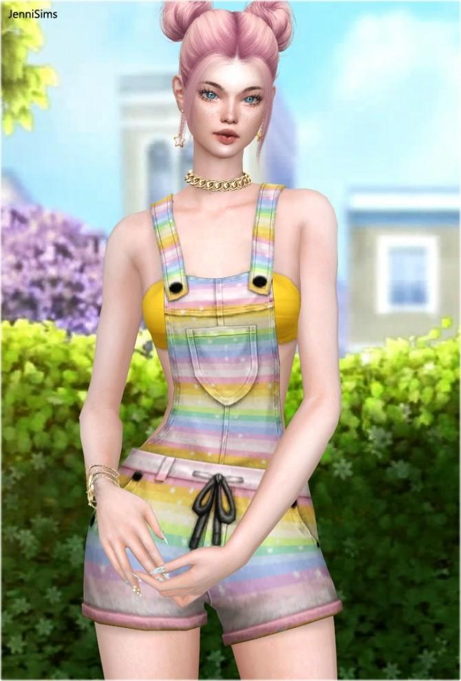 Sims 4 Denim Overalls at Jenni Sims