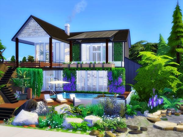 Sims 4 KWAZAR modern home by marychabb at TSR
