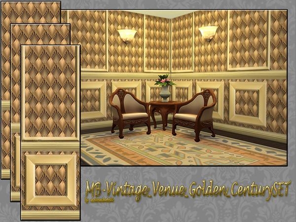 Sims 4 MB Vintage Venue Golden Century SET by matomibotaki at TSR