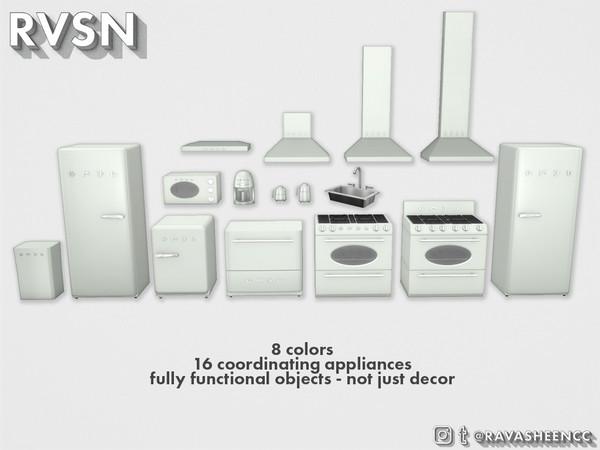 Sims 4 SMEGlish Retro Kitchen Appliances Large by RAVASHEEN at TSR