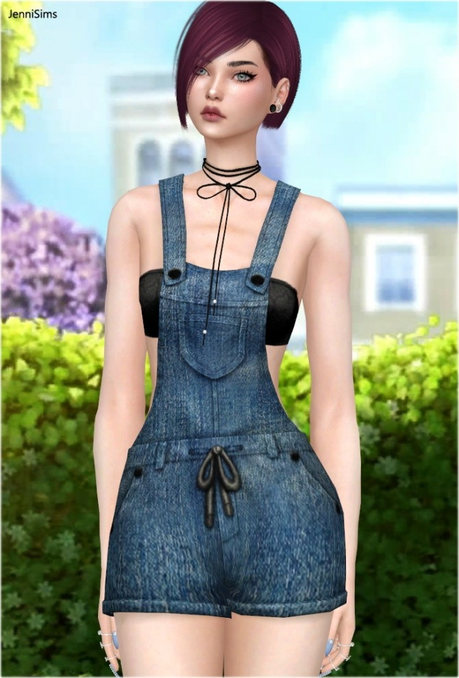 Denim Overalls at Jenni Sims image 90 670x990 Sims 4 Updates