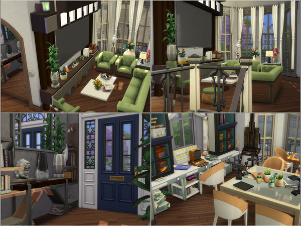 Sims 4 Ashbury house by Ezust at TSR