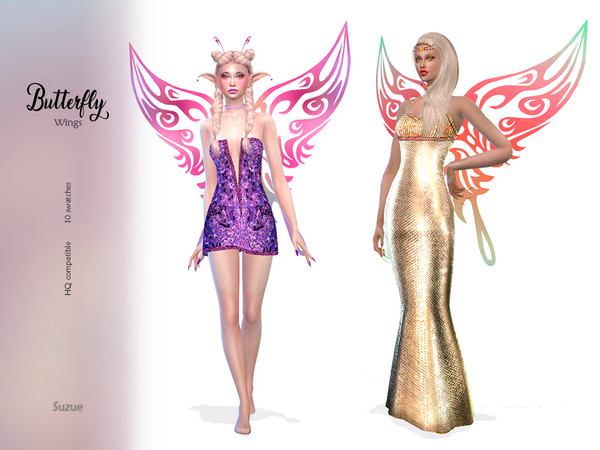 Sims 4 Butterfly Wings by Suzue at TSR