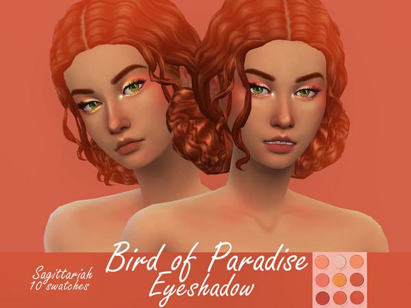 Sims 4 Bird of Paradise Eyeshadow by Sagittariah at TSR