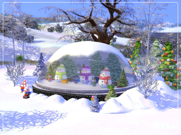 Sims 4 Snow Globe by Summerr Plays at TSR
