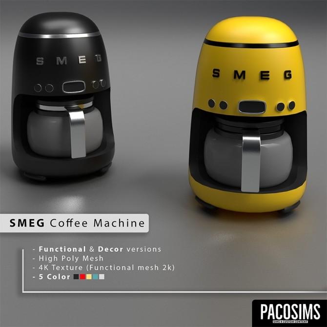 Sims 4 SMEG Coffee Machine (P) at Paco Sims