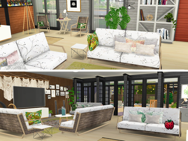 Suzanne two storey house by melapples at TSR image 10100 Sims 4 Updates