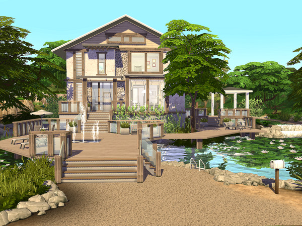 Rustic Modern Home by Sarina Sims at TSR image 10101 Sims 4 Updates