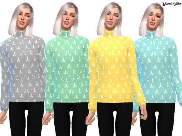Tracksuit Jacket by Wicked Kittie at TSR image 1013 Sims 4 Updates