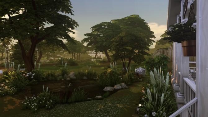 Sims 4 Rustic farmhouse at a winged llama