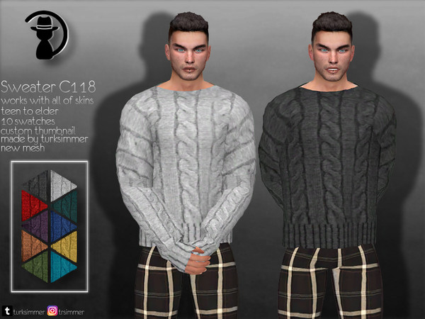 Sweater C118 by turksimmer at TSR image 1042 Sims 4 Updates