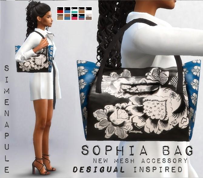 Sims 4 Sophie Bag by Ronja at Simenapule