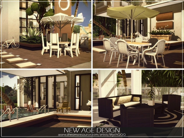 Sims 4 New Age Design house by MychQQQ at TSR