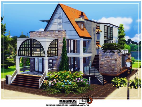 Sims 4 Magnus luxurious contemporary villa by Danuta720 at TSR
