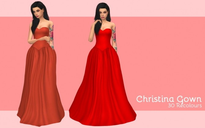 Christina gown at Midnightskysims image 1069 670x419 Sims 4 Updates