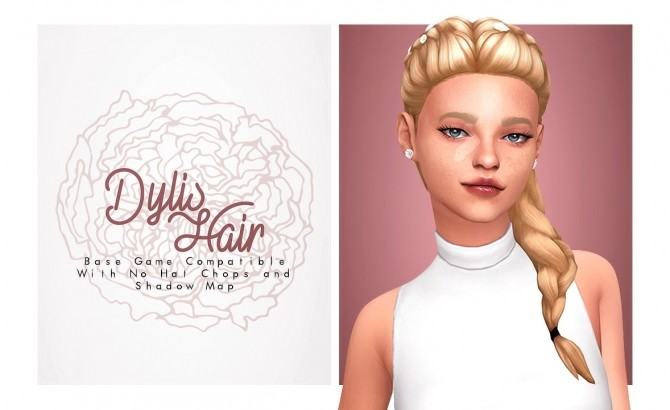 Dylis braided hair with flowers at Isjao – working on uni image 1089 670x410 Sims 4 Updates