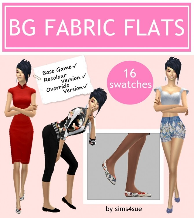 Sims 4 BG FABRIC FLATS at Sims4Sue