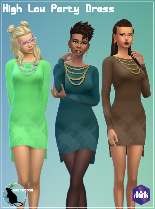 High Low Party Dress at Standardheld image 1099 Sims 4 Updates