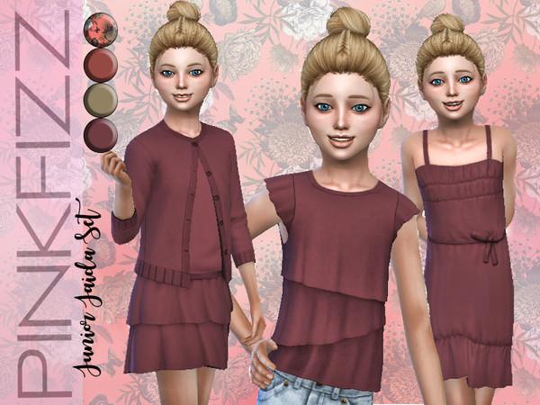 Sims 4 Junior Jaida Set by Pinkfizzzzz at TSR