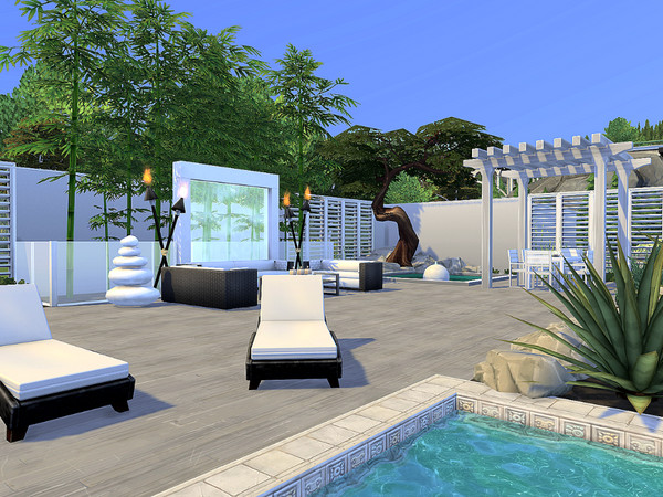 Sims 4 Modern Mansion No CC by Sarina Sims at TSR