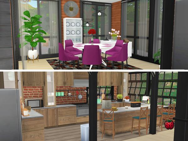 Suzanne two storey house by melapples at TSR image 11104 Sims 4 Updates