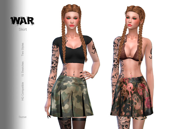 Sims 4 War Skirt by Suzue at TSR