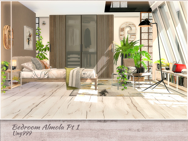 Sims 4 Bedroom Amola Part 1 by ung999 at TSR