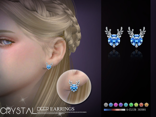 Sims 4 EARRINGS 202001 by S Club LL at TSR