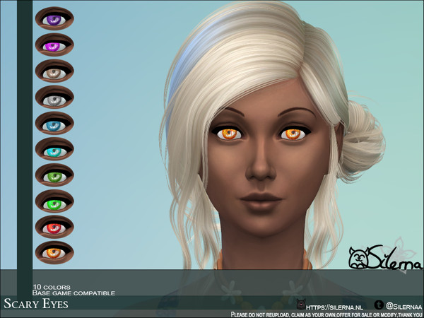 Sims 4 Scary Eyes by Silerna at TSR