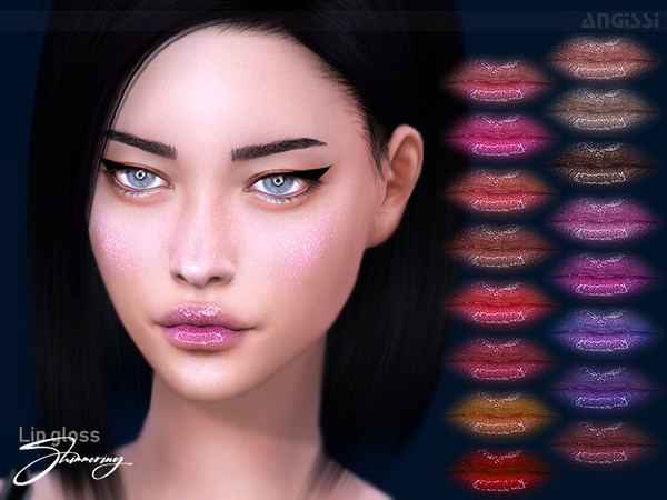 Lip gloss Shimmering by ANGISSI at TSR image 11413 Sims 4 Updates
