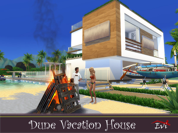 Dune Vacation House by evi at TSR image 1147 Sims 4 Updates