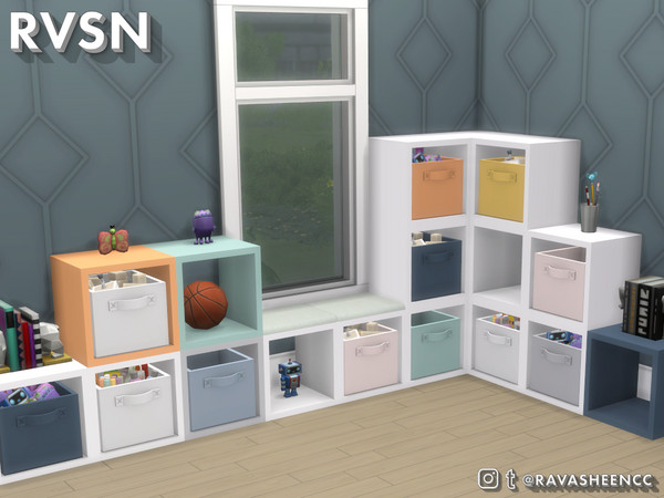 Sims 4 Do It Your Shelf Modular Cubbies Part 1 by RAVASHEEN at TSR